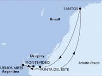 7 Noches por Brasil, Uruguay, Argentina a bordo del MSC Poesia