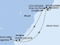 10 Noches por Argentina, Brasil, Uruguay a bordo del MSC Orchestra