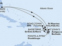10 Noches por Estados Unidos, Antigua y Barbuda, St. Kitts, Islas Vírgenes (Británicas), Guadalupe, St. Maarten a bordo del MSC Divina