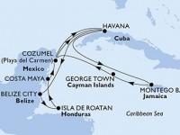 14 Noches por Cuba, Belice, Honduras, México, Jamaica, Gran Caimán a bordo del MSC Opera