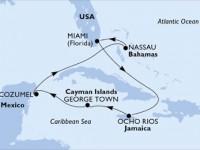 7 Noches por Estados Unidos, Jamaica, Gran Caimán, México, Bahamas a bordo del MSC Seaside