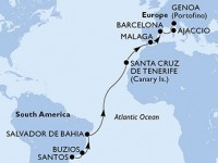16 Noches por Brasil, España, Francia, Italia a bordo del MSC Seaview