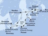 11 Noches por Alemania, Polonia, Lituania, Letonia, Estonia, Rusia, Finlandia, Suecia, Dinamarca a bordo del MSC Poesia