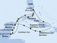 14 Noches por Estados Unidos, Belice, México, Cuba, Jamaica, Gran Caimán a bordo del MSC Armonia