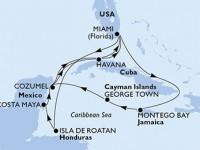 14 Noches por Estados Unidos, Honduras, México, Cuba, Jamaica, Gran Caimán a bordo del MSC Armonia