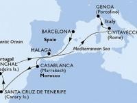 10 Noches por España, Marruecos, Portugal, Italia a bordo del MSC Poesia
