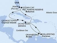 11 Noches por Estados Unidos, Aruba, Jamaica, Gran Caimán, Bahamas a bordo del MSC Divina