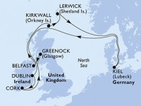 11 Noches por Alemania, Irlanda, Francia a bordo del MSC Splendida