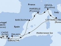 10 Noches por España, Gibraltar, Portugal, Italia, Francia a bordo del MSC Magnifica