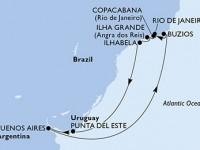 10 Noches por Argentina, Brasil, Uruguay a bordo del MSC Musica