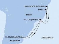 11 Noches por Argentina, Brasil a bordo del MSC Fantasia