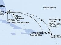10 Noches por Estados Unidos, Bahamas, Puerto Rico, Islas Vírgenes (Británicas), St. Maarten a bordo del MSC Divina