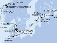 14 Noches por Dinamarca, Noruega, Alemania, Finlandia, Rusia, Estonia a bordo del MSC Meraviglia