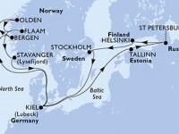 14 Noches por Alemania, Estonia, Rusia, Finlandia, Suecia, Noruega a bordo del MSC Splendida