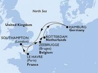 7 Noches por Francia, Bélgica, Holanda, Alemania, Francia a bordo del MSC Preziosa