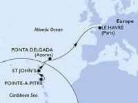 12 Noches por Guadalupe, Antigua y Barbuda, Portugal, Francia a bordo del MSC Preziosa