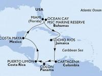 11 Noches por Estados Unidos, Jamaica, Colombia, Panamá, Costa Rica, México, Bahamas a bordo del MSC Divina