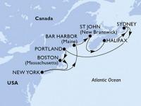 10 Noches por Estados Unidos, Canadá a bordo del MSC Meraviglia