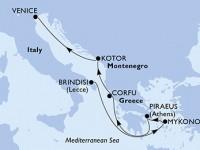 6 Noches por Italia, Grecia, Montenegro a bordo del MSC Musica
