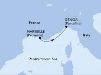 1 Noche por Francia, Italia a bordo del MSC Virtuosa