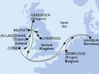 10 Noches por Alemania, Irlanda, Francia, Bélgica a bordo del MSC Preziosa
