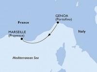 1 Noche por Italia, Francia a bordo del MSC Poesia