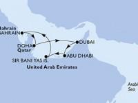 7 Noches por Doha,Dubai,Dubai,Abu Dhabi,Sir Bani Yas,Bahrain,Doha a bordo del MSC Fantasia