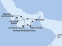 7 Noches por Abu Dhabi,Sir Bani Yas,Bahrain,Doha,Dubai,Dubai,Abu Dhabi a bordo del MSC Fantasia