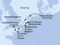 7 Noches por Alemania, Holanda, Bélgica, Francia, Francia a bordo del MSC Magnifica