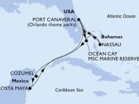 10 Noches por Estados Unidos, Bahamas, México a bordo del MSC Divina
