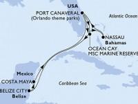 11 Noches por Estados Unidos, Bahamas, Belice, México a bordo del MSC Divina